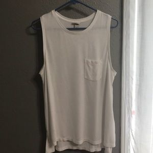Knit white tank top